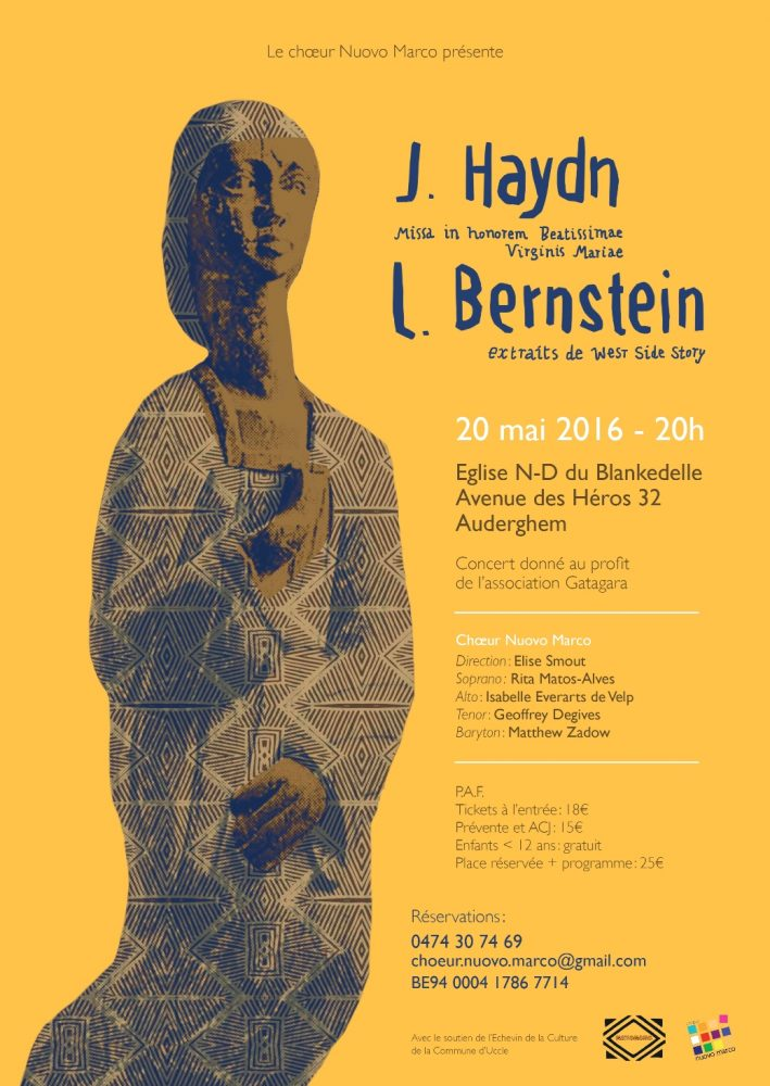Affiche du concert 20116 du choeur Nuovo Marco