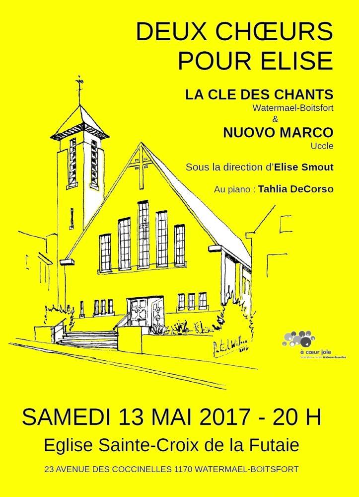 Affiche Concert 2017 Deux choeurs pour Elise