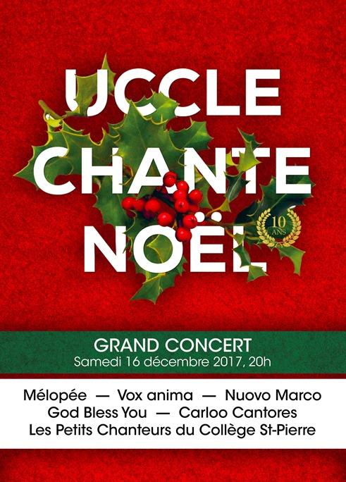Affiche du concert : Uccle chante Noël 2017