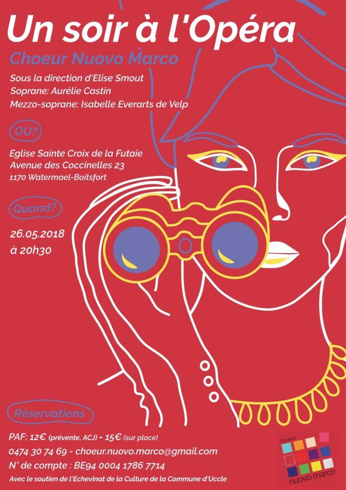 Affiche du concert 2018 : Un soir à l'Opéra - Choeur Nuovo Marco